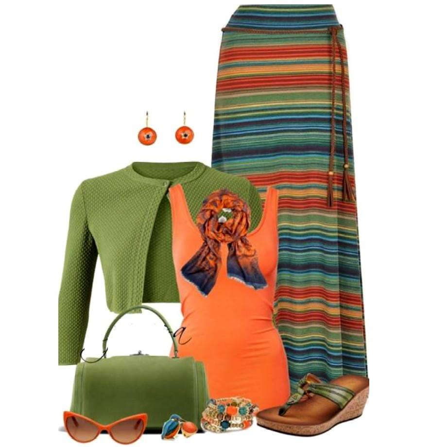Pretty Long Skirts for a Feminine Look